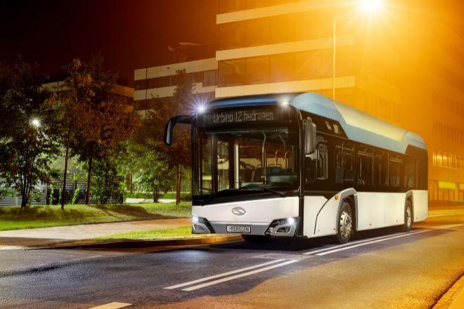 Imagen del autobús con hidrógeno que fabrica Solaris, filial polaca de CAF.