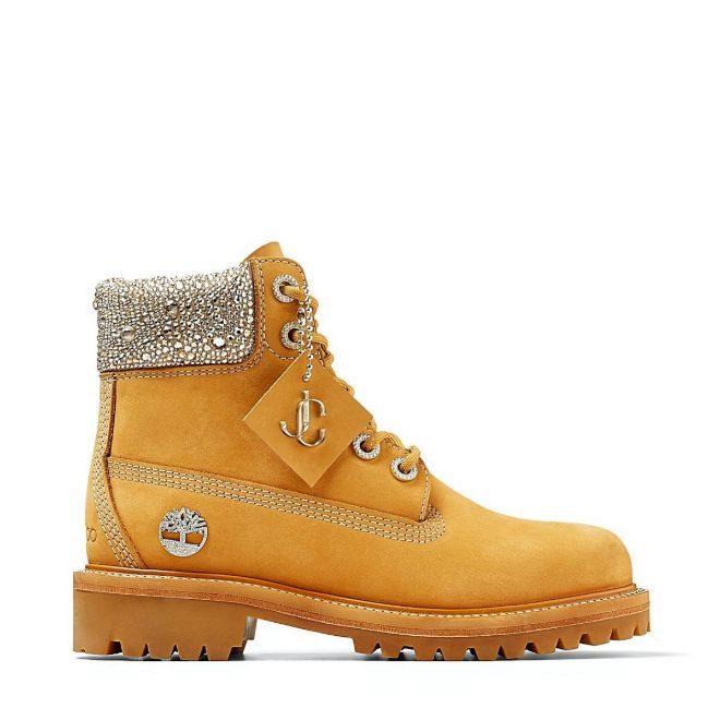 Yellow Boot con cristales Swarovski.