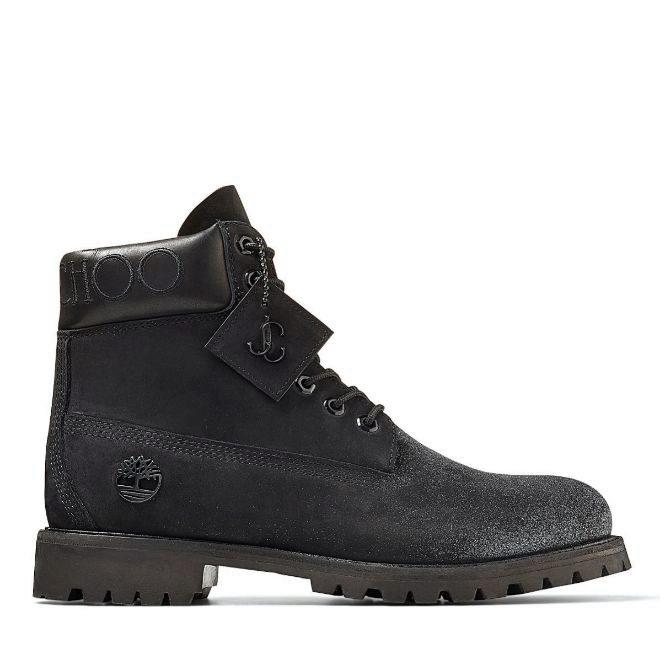La 6 Inch Boot en color negro y brillos.
