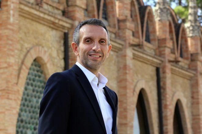 Sergio Fuster, en la sede de Codorníu, en Sant Sadurní d'Anoia.