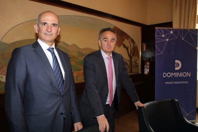 Mikel Barandiarán (CEO de Dominion) y Antón Pradera (presidente).