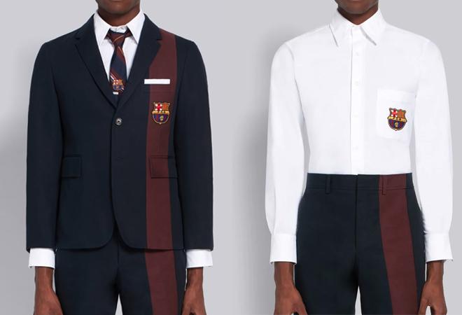 Chaqueta sport, 1.460 euros, y camisa con escudo, 360 euros.