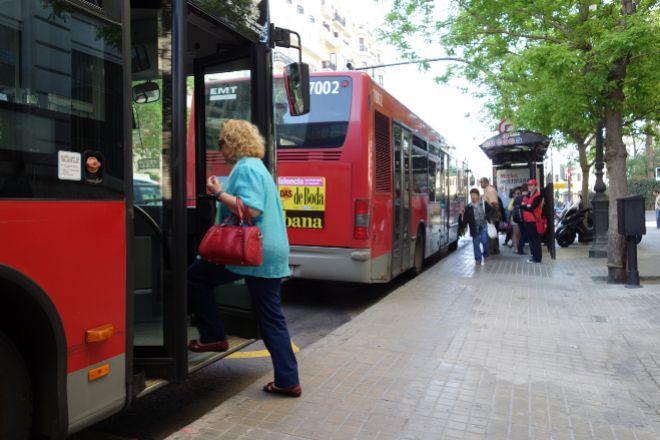 Autobús de la EMT de Valencia.