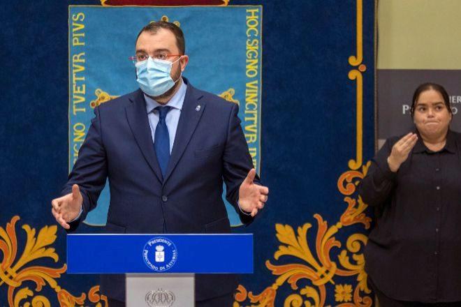 El presidente asturiano, Adrián Barbón.