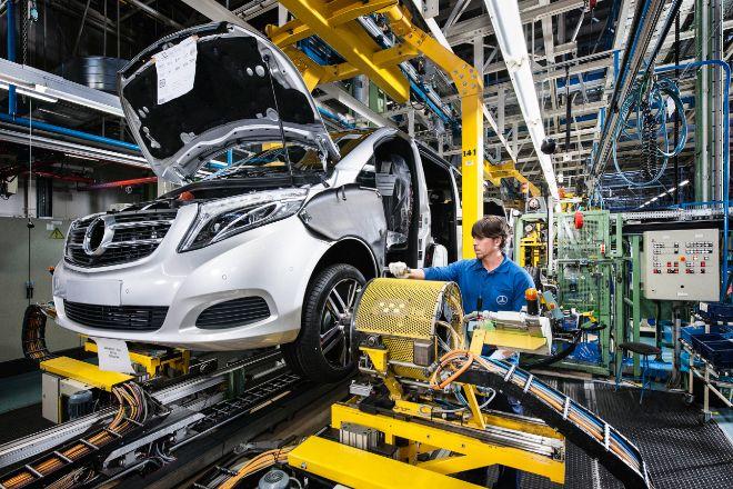 La planta de Mercedes en Vitoria fabricará este año 125.000 furgonetas Vito y Clase V.