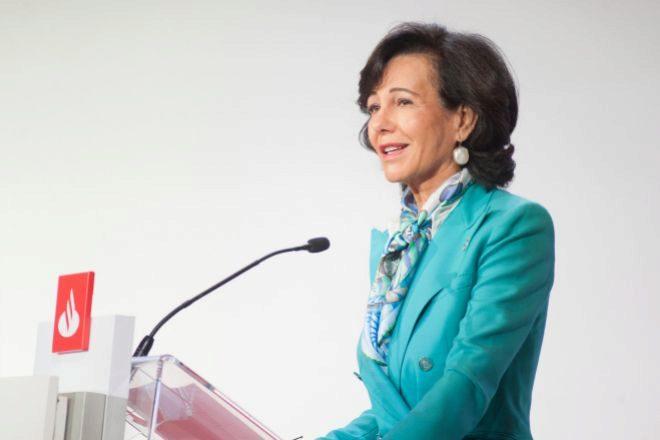 """Botín: """"Santander está en posición de pagar dividendos, aporta confianza al inversor"""""""