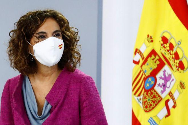 La ministra de Hacienda, lt;HIT gt;María lt;/HIT gt; lt;HIT gt;Jesús lt;/HIT gt; lt;HIT gt;Montero lt;/HIT gt; durante la rueda de prensa tras el Consejo de Ministros.