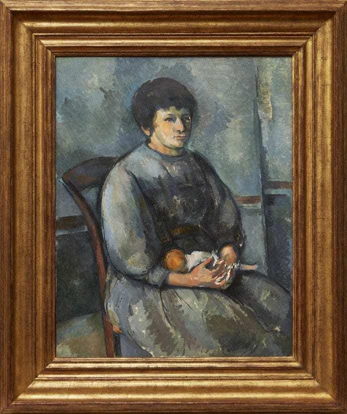 La Galería Acquavella cuelga en la red un Cézanne titulado Jeune...
