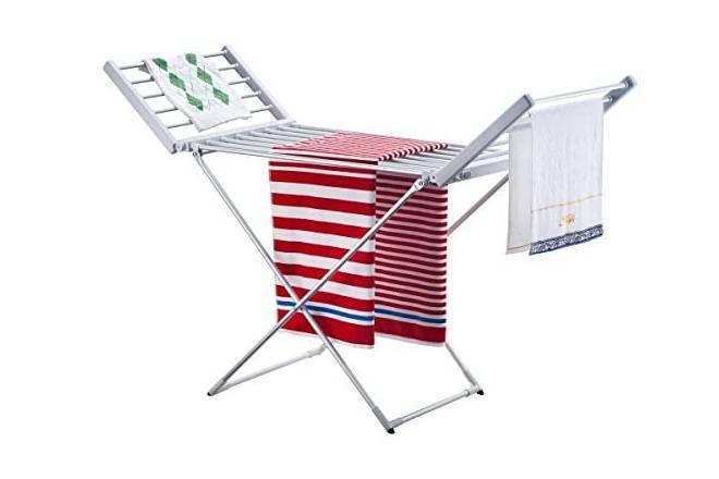 Tendederos y toalleros eléctricos o que se cuelgan en el radiador para secar la ropa dentro de casa