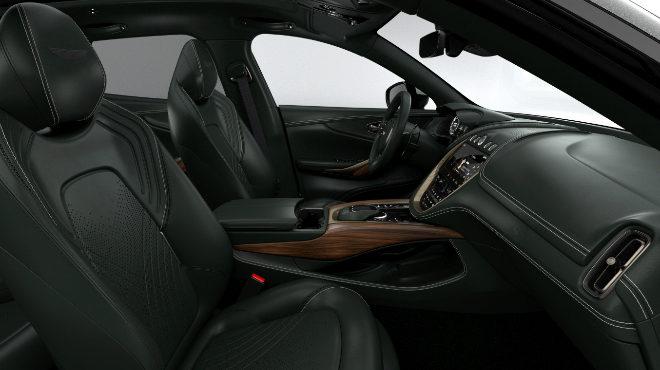 Habitáculo de la edición especial del SUV de Aston Martin.