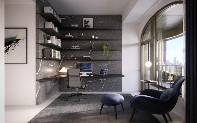 Los pisos se entregan amueblados, incluido el despacho.