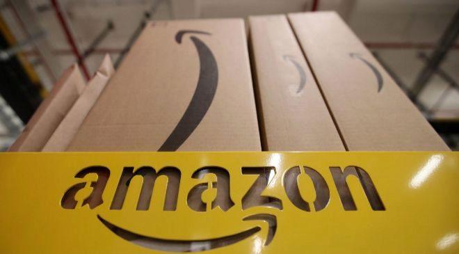 Paquete de la multinacional norteamericana Amazon.