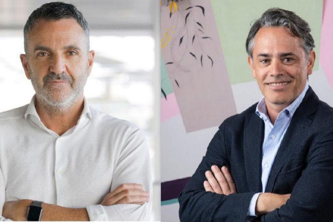 Javier Jiménez, director general de Lanzadera (izquierda) y David Sáez, director de nuevo negocio de Facebook en España y Portugal.