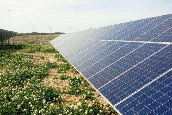 Panales solares de Efelec, en una imagen de archivo.