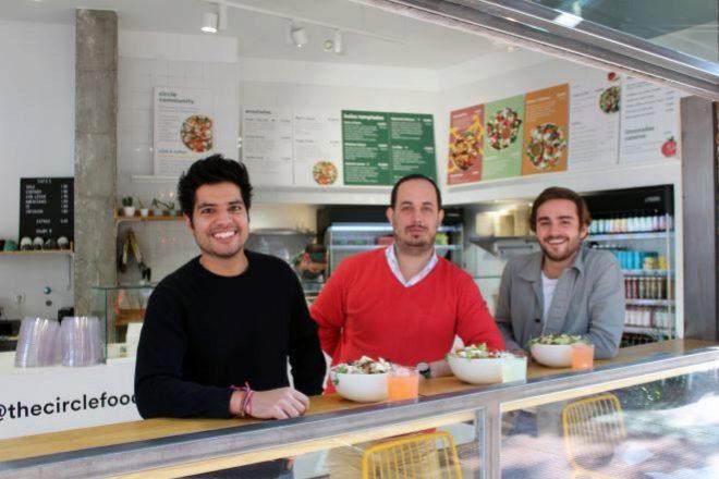 Desde la izquierda, Karan Anand, cofundador; Carlos Esquivel, CTO; y Diogo Cunha, cofundador.