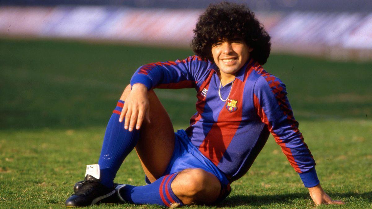 Su etapa en España: Maradona disputó 58 partidos a lo largo de dos...