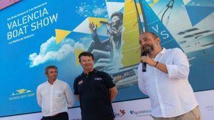 Nacho Gómez-Zarzuela (dcha.), durante la presentación del evento en...