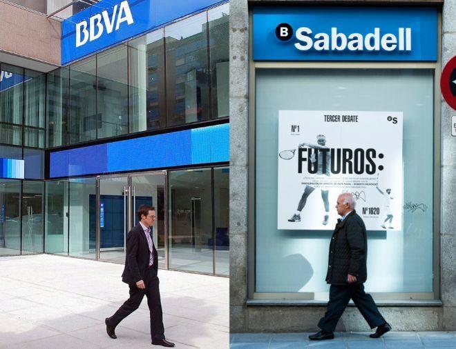 BBVA y Sabadell se hacen más pequeños