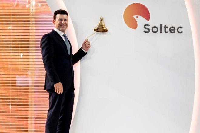 Raúl Morales, fundador de Soltec, durante la salida a Bolsa de la compañía el pasado 28 de octubre.