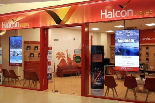 Establecimiento de Halcón Viajes, en Madrid.