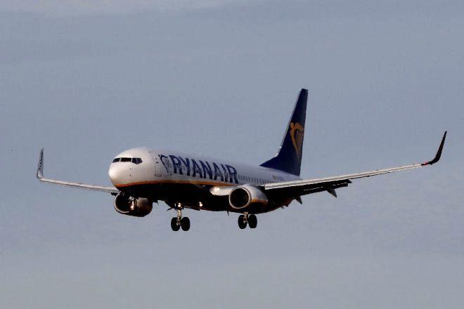 Uno de los aviones de Ryanair, fabricados por Boeing.