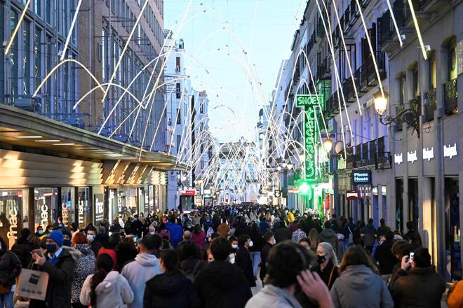 Aspecto que presentaba el pasado fin de semana el centro de la ciudad de Madrid.