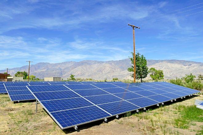 Foto de archivo de un parque fotovoltaico.