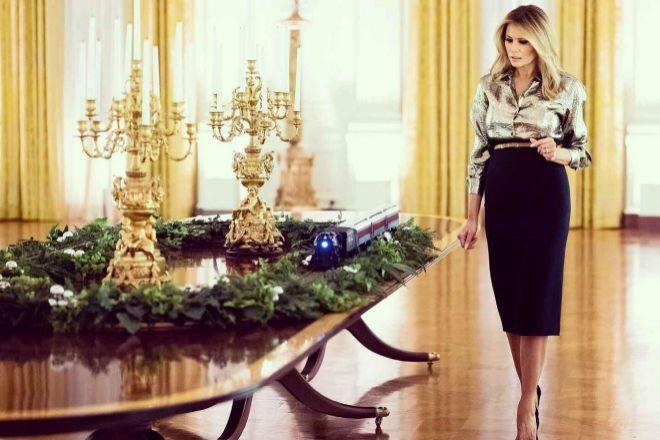 De Michelle a Melania, las mejores decoraciones de la Casa Blanca en Navidad