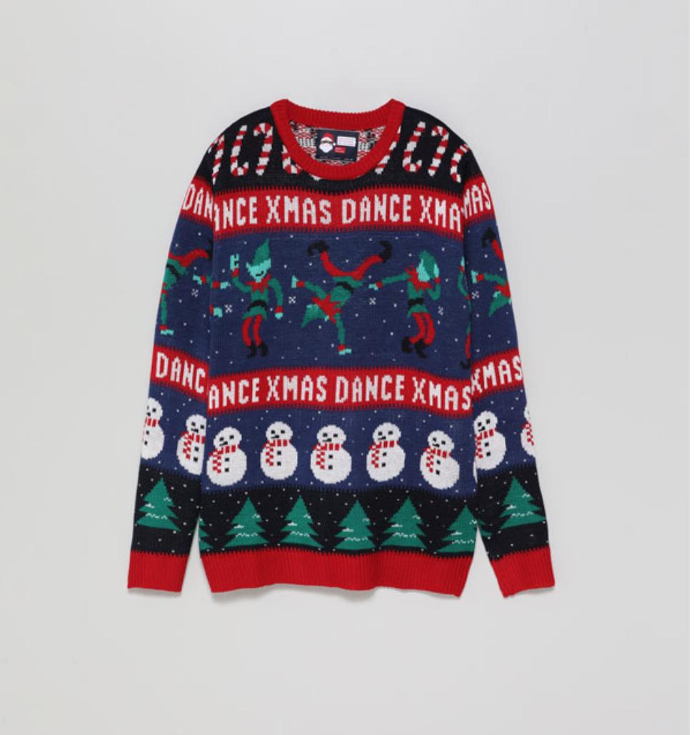 Un ugly sweater con luces de colores que se activan mediante el...
