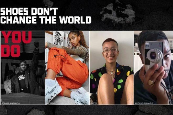 La campaña 'Los zapatos no cambian el mundo: tú lo haces' apoya y visibiliza a talentos jóvenes, influencers de la Generación Z que  que están creando e inspirando el cambio dentro de sus comunidades.