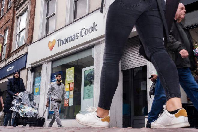 Oficina de Thomas Cook en Londres en septiembre de 2019.
