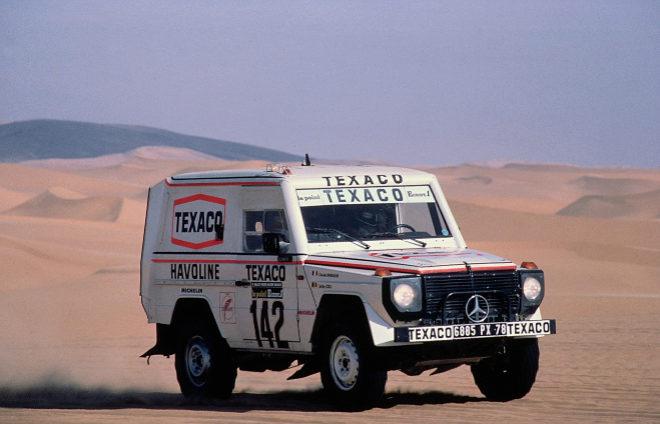 El Mercedes Clase G que ganó el rallye Paris-Dakar en 1983.