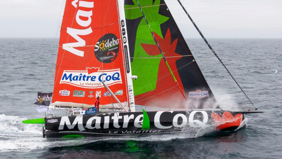 Yannick Bestaven, a bordo del Maitre Coq IV. | JEAN-MARIE LIOT
