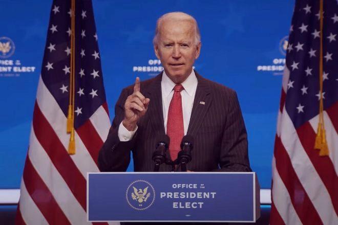 El presidente electo de EEUU Joe Biden.