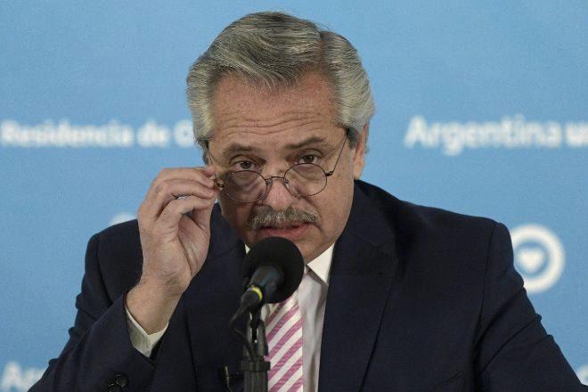 El presidente argentino Alberto Fernández.