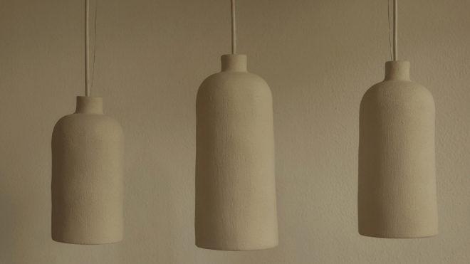 Trío de lámparas Torio, 425 euros.