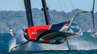 El AC75 del Team New Zealand, durante las Series Mundiales de...