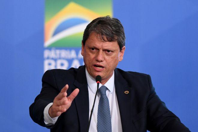 Tarcísio Gomes de Freitas, ministro de Infraestructuras de Brasil.