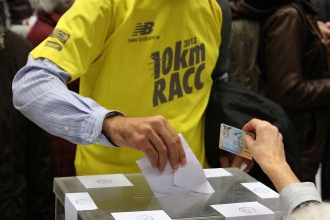 Punto de votación en las últimas elecciones catalanas, que tuvieron lugar en diciembre de 2017.