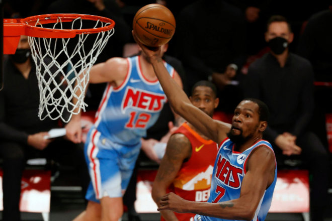 Las estrella de los Brooklyn Nets, Kevin Durant.