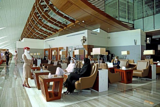 The Emirates Lounge, en el aeropuerto de Dubái.