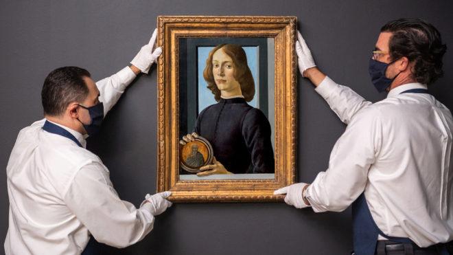 El retrato de Botticelli es singular tanto por la técnica como por el estado de conservación.