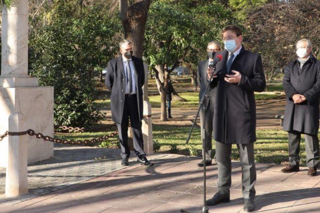 Ximo Puig, durante el acto de homenaje a Manuel Broseta.