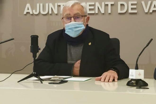 El alcalde de Valencia, Joan Ribó, durante la presentación de las nuevas medidas fiscales.