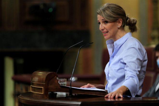 La ministra de Trabajo,Yolanda Díaz.