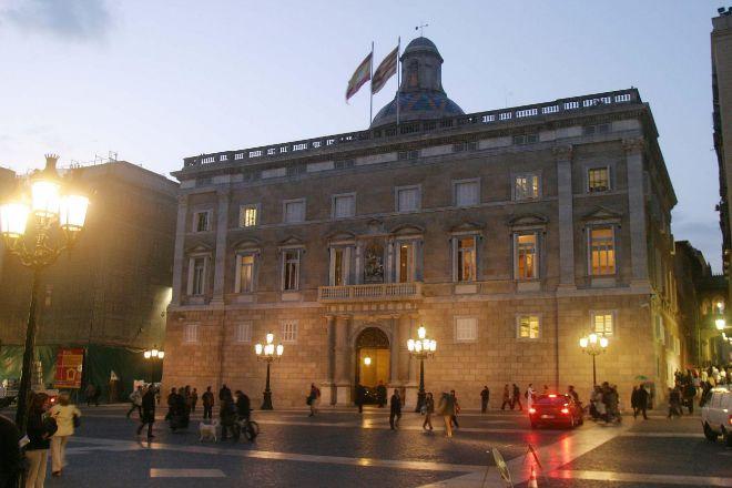La fachada del Palau de la Generalitat, en una imagen de archivo.