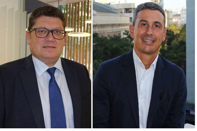 Alberto Carretón, nuevo director de Pymes, y Pedro Ramírez, director de zona de Castellón.