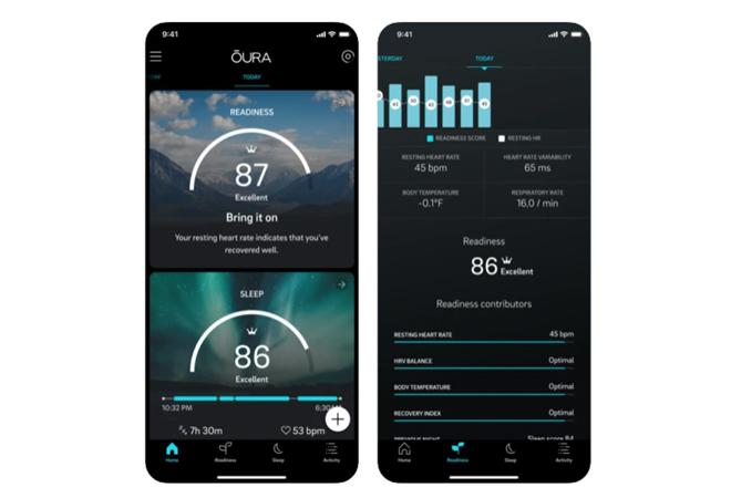 Oura funciona con una aplicación en el móvil que registra los datos.