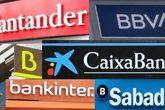Montaje con los logos de los seis bancos del Ibex
