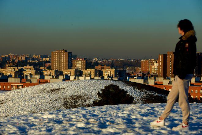 Madrid bajo su 'boina' el pasado 28 de enero desde el Cerro del Tío Pío.